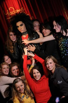 Bill Kaulitz bie Madame Tussauds Berlin